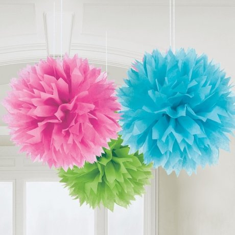 Multi-Colours Paper Fluffy Decorations 40cm - 3