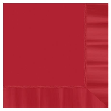 Red Lunch Napkins Set of 20