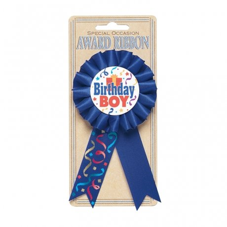 Birthday Boy Award Ribbon - 15.2cm