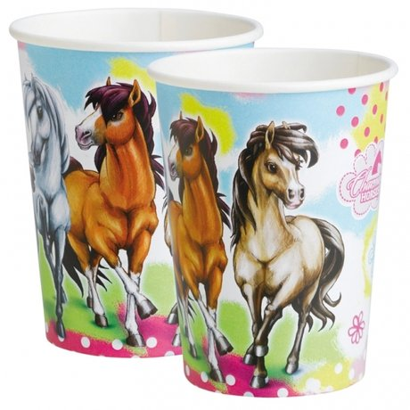 Charming Horses Paper Cup 250ml - 8