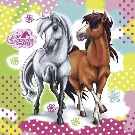 Charming Horses Luncheon Napkin