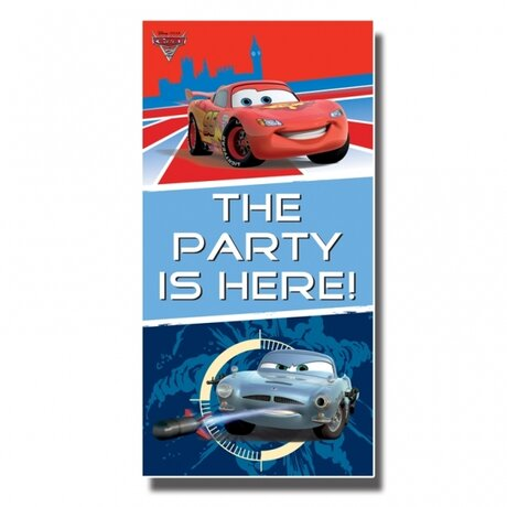 Disney Cars Party Here Door Sign