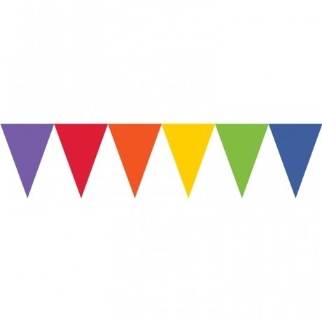 Rainbow Paper Pennant Banners 4.5m