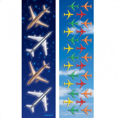 Airplane Shiny Scrapbook Stickers