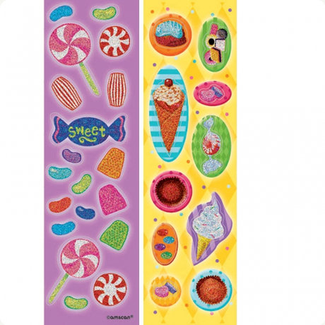 Sweet Tooth Prismatic Sticker Strips