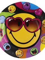 Smiley Express Yourself Paper Plate 23 cm - 8