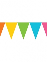 Multi-Colours Paper Pennant Banners 4.5m