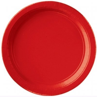 Apple Red Paper Plates - 17.7cm