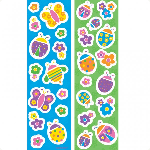 Playful Ladybugs Sticker Strips